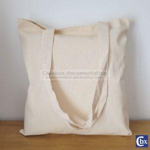 sac cabas en coton reps écru