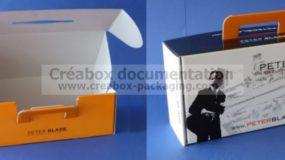 """boîte """"à oreilles"""" avec poignée pour chaussures - 35x18x12 cm"""