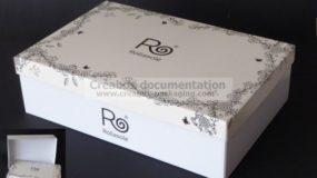 boîte automontable en carton pour chaussures