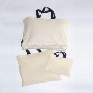 sac, cabas ou tote-bag en coton reps