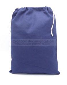 pochon en coton bleu pour jetons ou pions de jeu 29x40 cm
