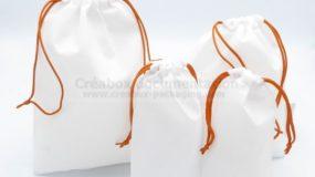 collection de pochon en tissu non tissé, 4 tailles, pour événement sportif